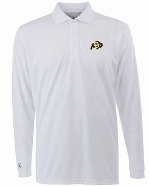 Colorado Mens Long Sleeve Polo Shirt (Color: White)