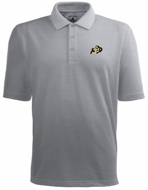 Colorado Mens Pique Xtra Lite Polo Shirt (Color: Gray)