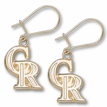Colorado Rockies 10K Gold Post or Dangle Earrings