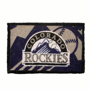 Colorado Rockies 18x30 Bleached Welcome Mat