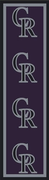 "Colorado Rockies 2'1"" x 7'8"" Premium Runner Rug"