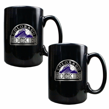 Colorado Rockies 2 Piece Coffee Mug Set