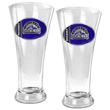 Colorado Rockies 2 Piece Pilsner Glass Set