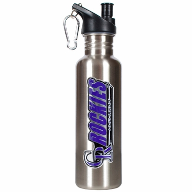 Colorado Rockies 26oz Stainless Steel Water Bottle (Silver)