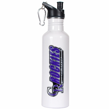 Colorado Rockies 26oz Stainless Steel Water Bottle (White)