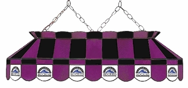 Colorado Rockies 40 Inch Rectangular Stained Glass Billiard Light