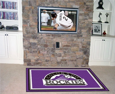 Colorado Rockies 5 Foot x 8 Foot Rug