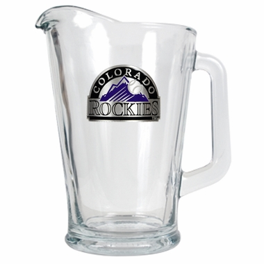 Colorado Rockies 60 oz Glass Pitcher