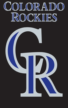 Colorado Rockies Applique Banner Flag
