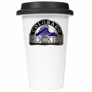 Colorado Rockies Ceramic Travel Cup (Black Lid)