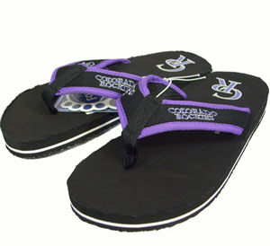Colorado Rockies Contoured Flip Flop Sandals - Large