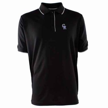 Colorado Rockies Mens Elite Polo Shirt (Team Color: Black)