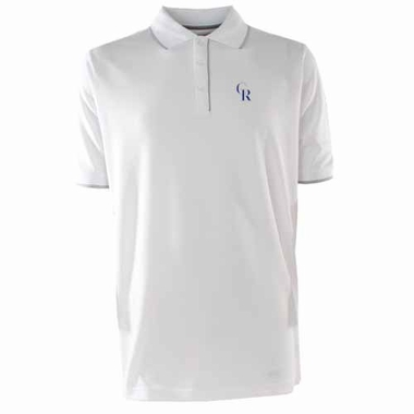 Colorado Rockies Mens Elite Polo Shirt (Color: White)