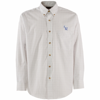 Colorado Rockies Mens Esteem Check Pattern Button Down Dress Shirt (Color: White)