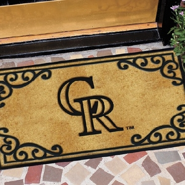 Colorado Rockies Exterior Door Mat