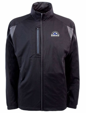 Colorado Rockies Mens Highland Water Resistant Jacket (Team Color: Black)