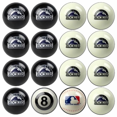 Colorado Rockies Home and Away Complete Billiard Ball Set