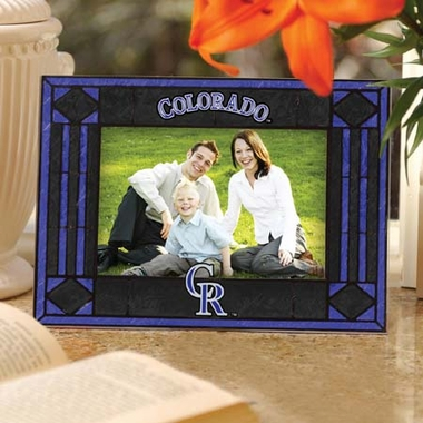 Colorado Rockies Landscape Art Glass Picture Frame