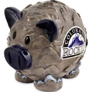 Colorado Rockies Piggy Bank - Thematic Large