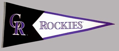 Colorado Rockies Large Wool Pennant