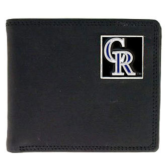 Colorado Rockies Leather Bifold Wallet (F)