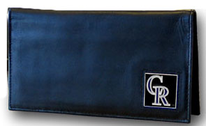 Colorado Rockies Leather Checkbook Cover (F)