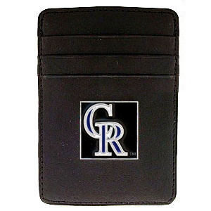 Colorado Rockies Leather Money Clip (F)