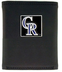 Colorado Rockies Leather Trifold Wallet (F)