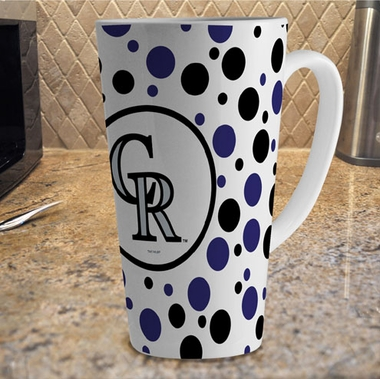 Colorado Rockies Polkadot 16 oz. Ceramic Latte Mug
