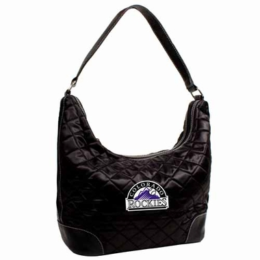 Colorado Rockies Quilted Hobo Purse