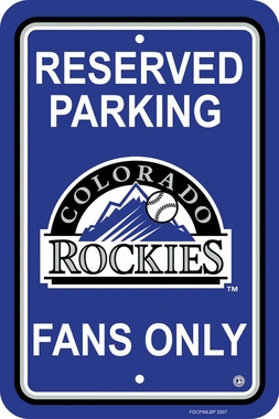 Colorado Rockies Plastic Parking Sign (P)