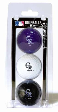 Colorado Rockies Set of 3 Multicolor Golf Balls
