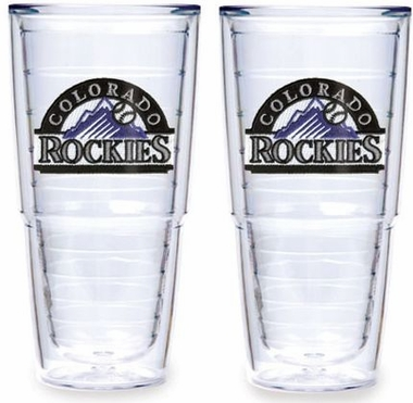 "Colorado Rockies Set of TWO 24 oz. ""Big T"" Tervis Tumblers"