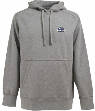 Colorado Rockies Mens Signature Hooded Sweatshirt (Color: Gray)