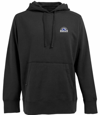 Colorado Rockies Mens Signature Hooded Sweatshirt (Team Color: Black)