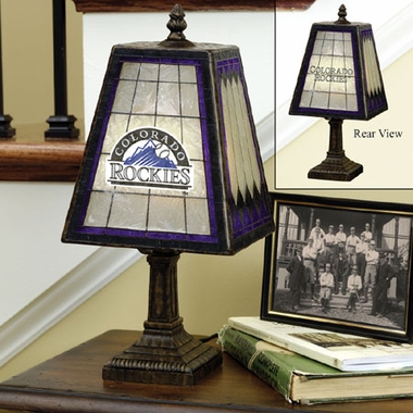 Colorado Rockies Small Art Glass Lamp