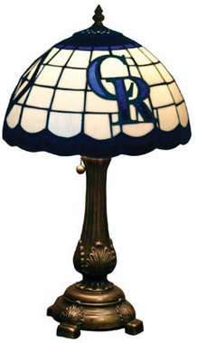 Colorado Rockies Stained Glass Table Lamp