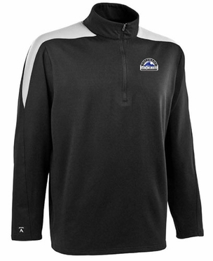 Colorado Rockies Mens Succeed 1/4 Zip Performance Pullover (Team Color: Black)