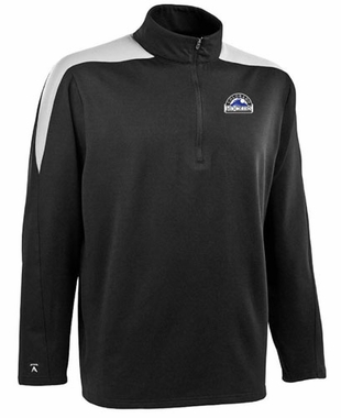 Colorado Rockies Mens Succeed 1/4 Zip Performance Pullover (Team Color: Black) - Medium