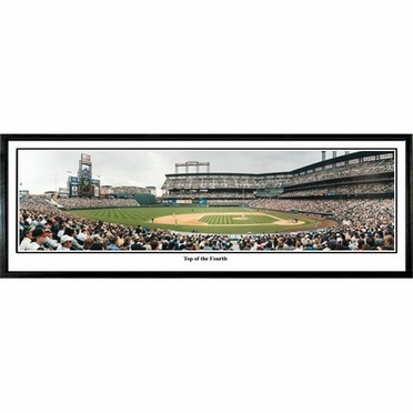 Colorado Rockies Top of the Fourth Framed Panoramic Print