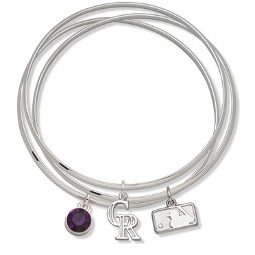 Colorado Rockies Triple Bangle Bracelet