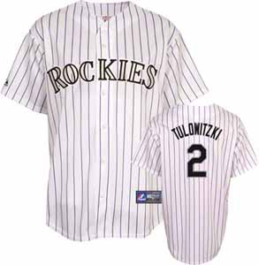 Colorado Rockies Troy Tulowitzki YOUTH Replica Player Jersey - Large