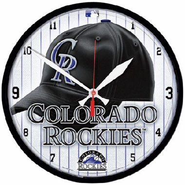 Colorado Rockies Wall Clock