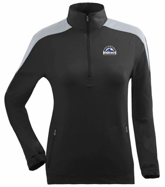 Colorado Rockies Womens Succeed 1/4 Zip Performance Pullover (Team Color: Black)