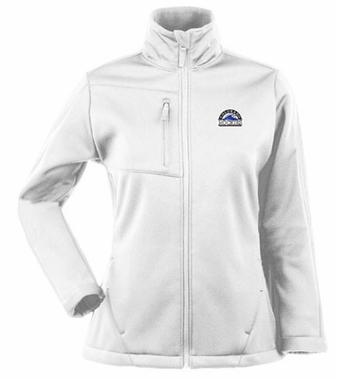 Colorado Rockies Womens Traverse Jacket (Color: White)