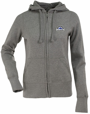 Colorado Rockies Womens Zip Front Hoody Sweatshirt (Color: Gray)