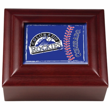 Colorado Rockies Wooden Keepsake Box