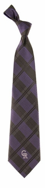 Colorado Rockies Woven Plaid Necktie