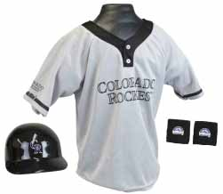 Colorado Rockies YOUTH Helmet and Jersey Set