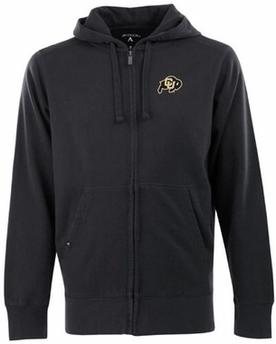 Colorado Mens Signature Full Zip Hooded Sweatshirt (Team Color: Black)